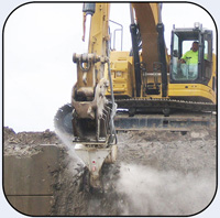AQ4 CAT328 Concrete Demolition Roadway