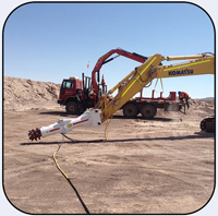 AQ3L with extension used to excavator 1.2m wide and 2m deep holes in Northern Chile. On a Komatsu PC200