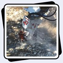 AQ-3XL on CAT320 Land Development rock removal in Texas