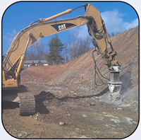 AQ4 on CAT330 Hard Rock Excavation.
