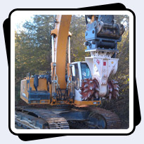 AQ-4 on Liebherr 934 Trenching Red Shale in North Carolina