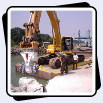 AQ-4 on PC400 Rock Dredging on Lake Erie
