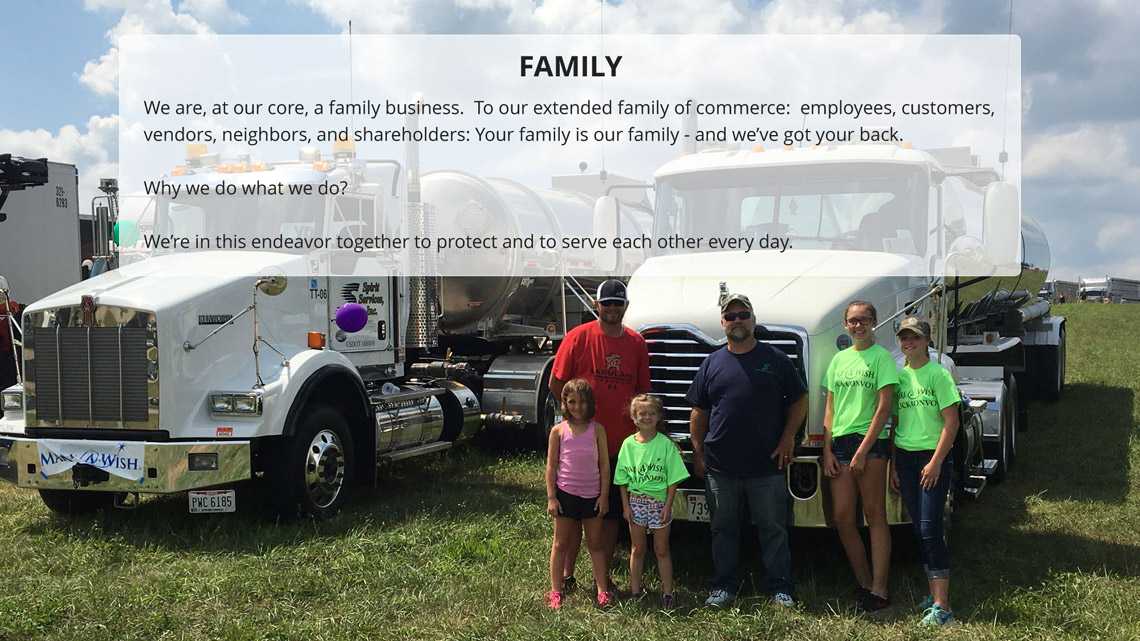 The family of Spirit employees is a tight knit group that honors the values of teamwork and loyalty.