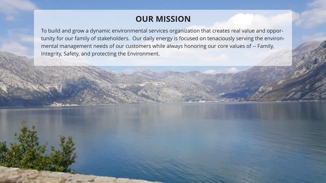 Spirit Services, our mission statement and core values.