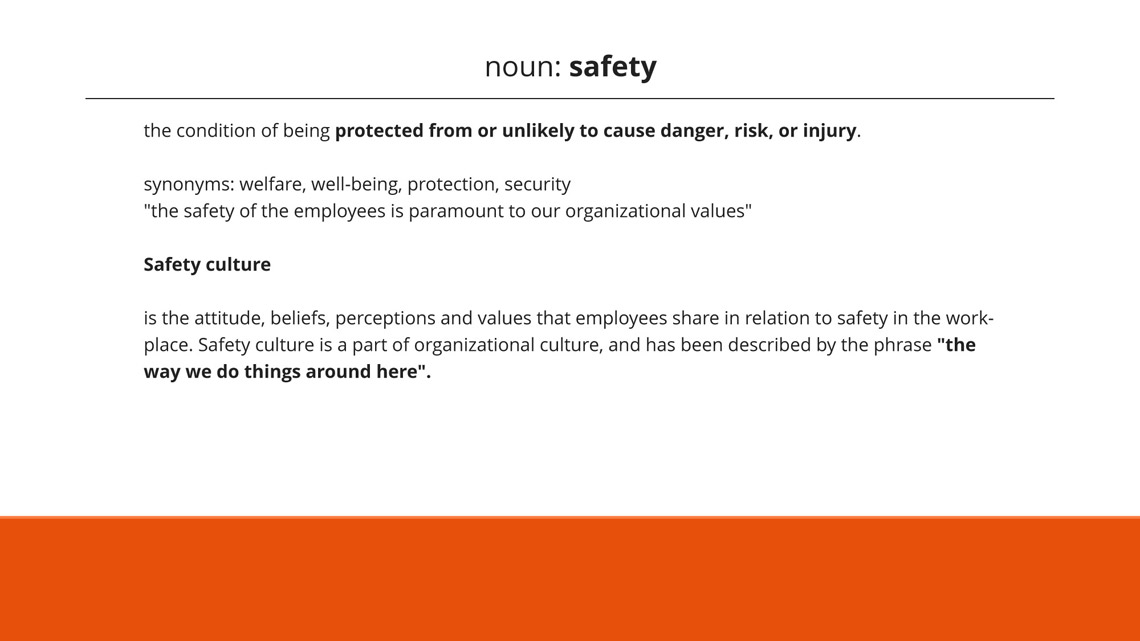 Safety is priority to protect from danger, risk or injury.